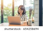 concentrated at work. confident ... | Shutterstock . vector #654258694