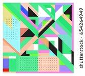 trendy geometric elements... | Shutterstock .eps vector #654264949