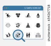 set of 12 editable kid icons....