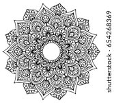 mandalas for coloring book.... | Shutterstock .eps vector #654268369