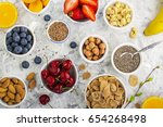 ingredients for a healthy... | Shutterstock . vector #654268498