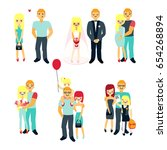 stages of family life concept... | Shutterstock .eps vector #654268894