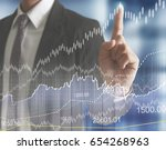financial symbols coming from... | Shutterstock . vector #654268963