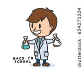 back to school cartoon... | Shutterstock .eps vector #654271324