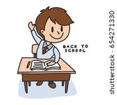 back to school cartoon... | Shutterstock .eps vector #654271330