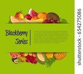 fresh organic fruit poster... | Shutterstock .eps vector #654275086