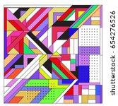 trendy geometric elements... | Shutterstock .eps vector #654276526