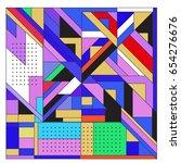 trendy geometric elements... | Shutterstock .eps vector #654276676