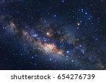 milky way galaxy with stars and ... | Shutterstock . vector #654276739