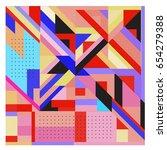 trendy geometric elements...   Shutterstock .eps vector #654279388
