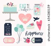 love stickers. signs  symbols ... | Shutterstock .eps vector #654280159