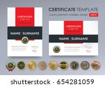 certificate template with... | Shutterstock .eps vector #654281059