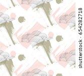 rain pattern with brush... | Shutterstock . vector #654282718