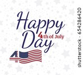 celebrate happy 4th of july  ... | Shutterstock .eps vector #654286420