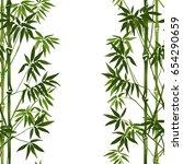 bamboo seamless vertical border ...   Shutterstock .eps vector #654290659