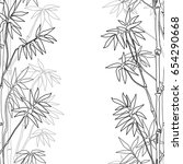 bamboo seamless vertical border ...   Shutterstock .eps vector #654290668