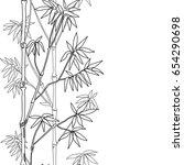 bamboo seamless vertical border ...   Shutterstock .eps vector #654290698