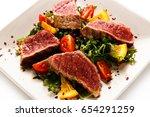 fillet mignon   grilled... | Shutterstock . vector #654291259