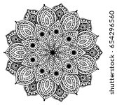 mandalas for coloring book.... | Shutterstock .eps vector #654296560