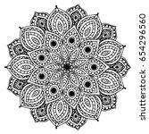 mandalas for coloring book....   Shutterstock .eps vector #654296560