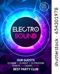 electro sound party music... | Shutterstock .eps vector #654301978