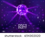 disco party background. music... | Shutterstock .eps vector #654302020