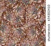 seamless background. flowers.... | Shutterstock . vector #654302410