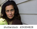 intense deep look of mature... | Shutterstock . vector #654304828