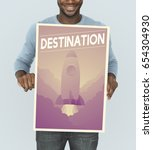 Small photo of People holding aspiration word quote banner board