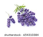 lavender with leaves in closeup | Shutterstock . vector #654310384