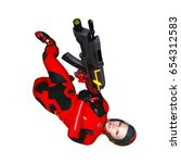 3d cg rendering of a super woman | Shutterstock . vector #654312583