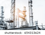 close up industrial view at oil ... | Shutterstock . vector #654313624