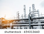 close up industrial view at oil ... | Shutterstock . vector #654313660
