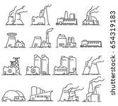 building industrial factory... | Shutterstock .eps vector #654319183