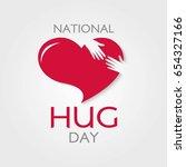happy national hug day vector...   Shutterstock .eps vector #654327166