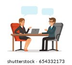 business conversation. man and... | Shutterstock .eps vector #654332173