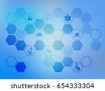 abstract blue background with... | Shutterstock .eps vector #654333304