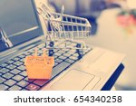 small housewife shopping basket ... | Shutterstock . vector #654340258