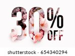 30  off discount promotion sale ... | Shutterstock . vector #654340294