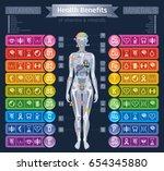 mineral vitamin supplement... | Shutterstock .eps vector #654345880