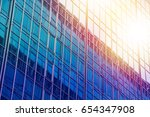 modern office building with... | Shutterstock . vector #654347908