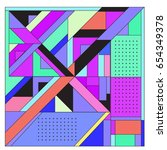 trendy geometric elements...   Shutterstock .eps vector #654349378