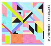trendy geometric elements...   Shutterstock .eps vector #654351868