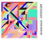 trendy geometric elements... | Shutterstock .eps vector #654352189