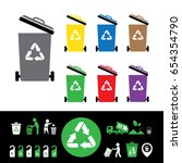 vector trash categories recycle ... | Shutterstock .eps vector #654354790