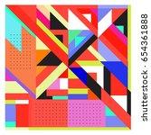trendy geometric elements...   Shutterstock .eps vector #654361888
