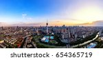 The Sunset Of Chengdu Tv Towers