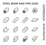vector icon of steel pipe and... | Shutterstock .eps vector #654366643