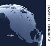 North America. Earth Globe....