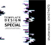 template design  vertical... | Shutterstock .eps vector #654374470